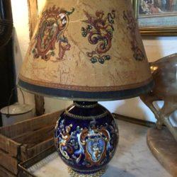 Lampe Gien et son abat-jour assorti