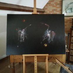huile sur toile art abstrait