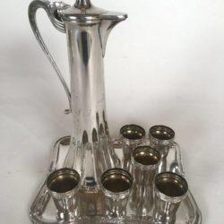 Service à liqueur en métal argenté