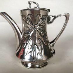 Verseuse métal argenté Art Nouveau