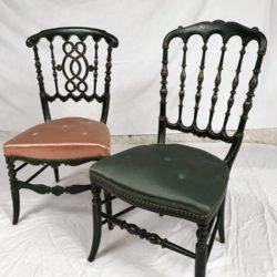 Lot de deux chaises légères Napoleon III
