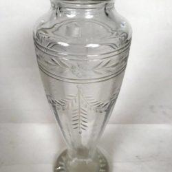 Vase en cristal, Hauteur 25 cm