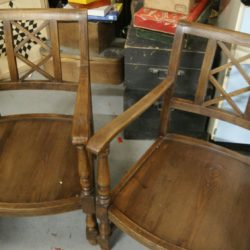 paire de fauteuil bois ancien