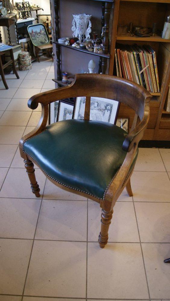 Ancien fauteuil de bureau les brocanteurs - Fauteuil de bureau ancien ...