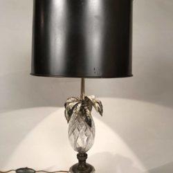 Lampe ananas en cristal taillé (Sèvres ?)
