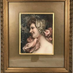 Portrait de jeune femme, grande reproduction encadrée