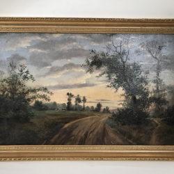 """Huile sur panneau """"paysage de campagne"""""""