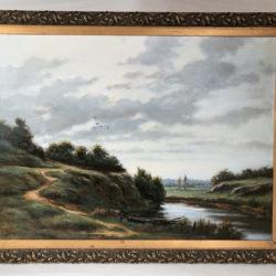 Huile sur toile signée Moy J. 1905-1992