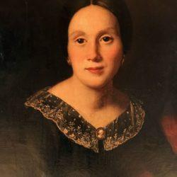 Huile sur toile XIXe, portrait de femme