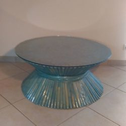 coffee table rotin Mc Guire industrials
