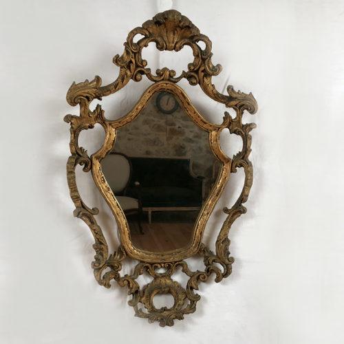 miroir cadre bois doré