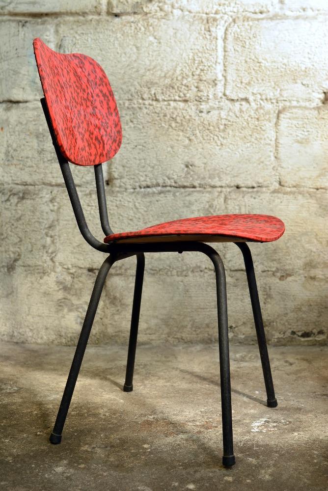 Ensemble de 4 chaises de cuisine vintage les brocanteurs for Ensemble de cuisine antique