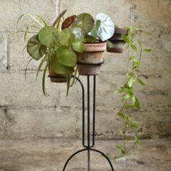 Porte plantes métallique vintage