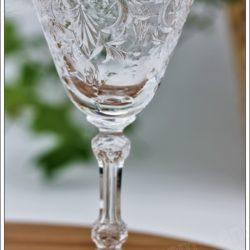Rare verre à liqueur en cristal du service Baccarat Marennes, Baccarat crystal liquor cordial glass