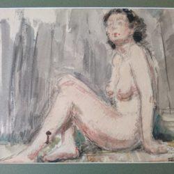 Nu Aquarelle signée Félicie Engrand