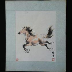 Aquarelle cheval Xu Beihong 徐悲鸿