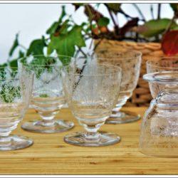 Série de 6 verres à Porto  en cristal de Baccarat modèle Lulli