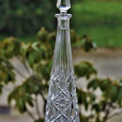 Grande carafe à vin blanc en cristal taillé de Baccarat modèle Lagny