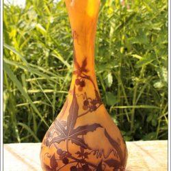 Superbe vase Art Nouveau signé Emile Gallé