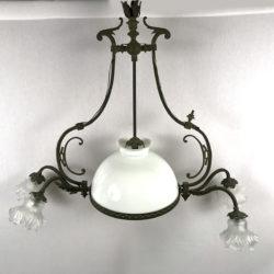 Lustre Napoléon III à cinq lumières
