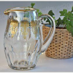 Pichet broc à eau en cristal de Baccarat modèle service Harcourt décor Empire, Baccarat crystal pitcher