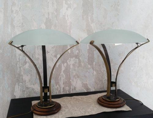 Lampe champignon style art déco