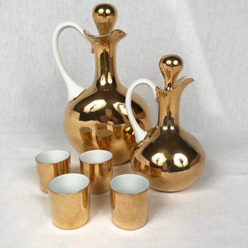 service porcelaine dorée Limoges