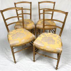 chaises Napoléon III bois doré