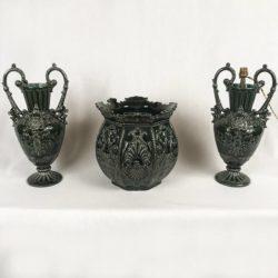 garniture cheminée céramique