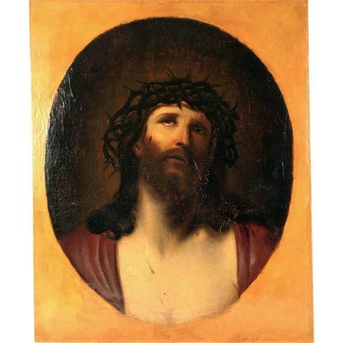 portrait du christ huile sur toile
