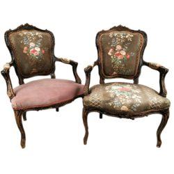 paire fauteuils Napoléon III