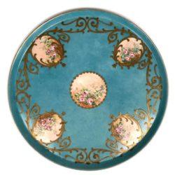 Plateau circulaire en porcelaine