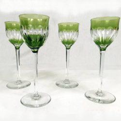 Quatre verres cristal